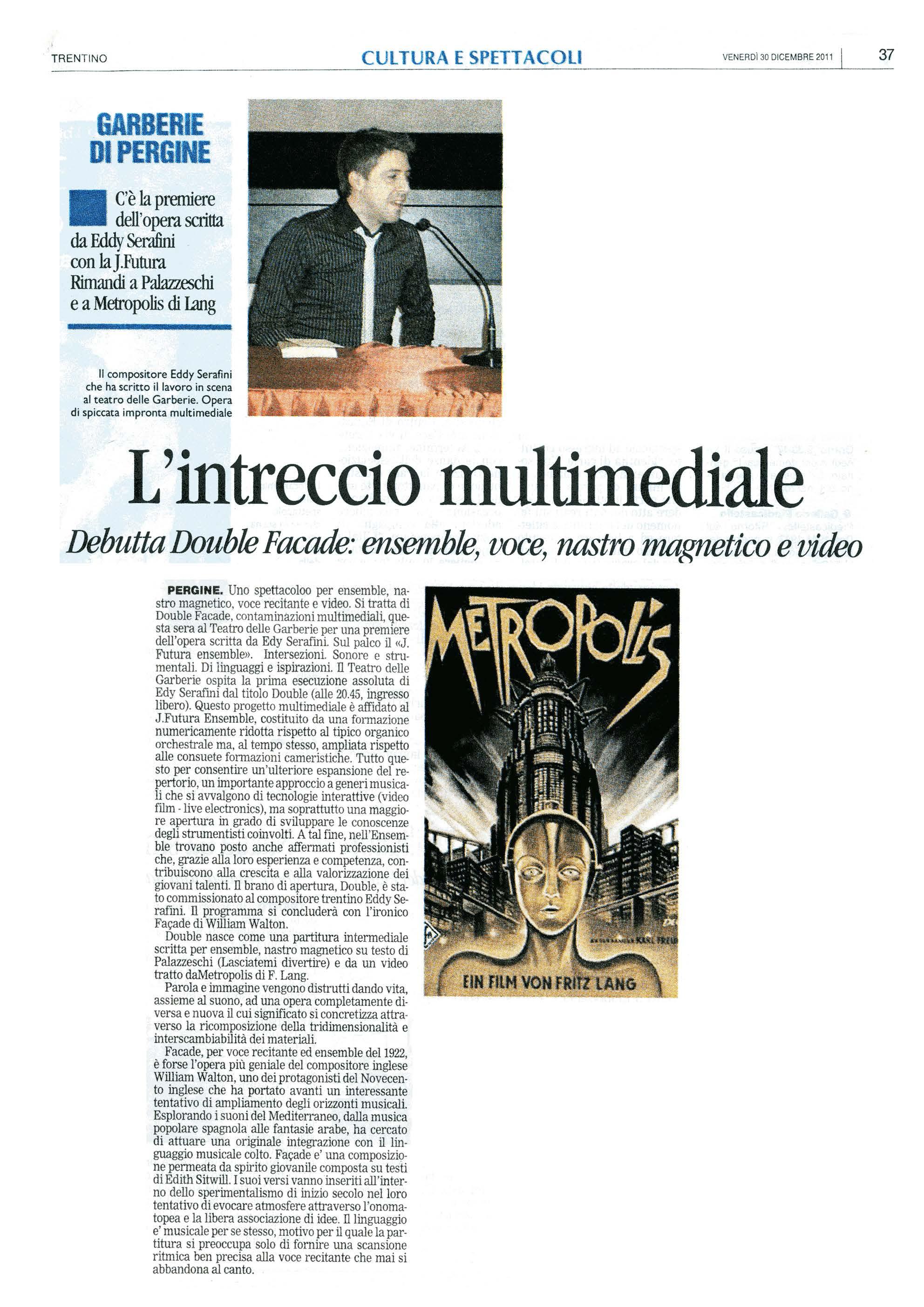 L'intreccio multimediale – Trentino – 30/12/2011